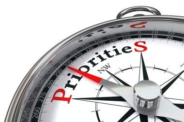 Priorities concept compass
