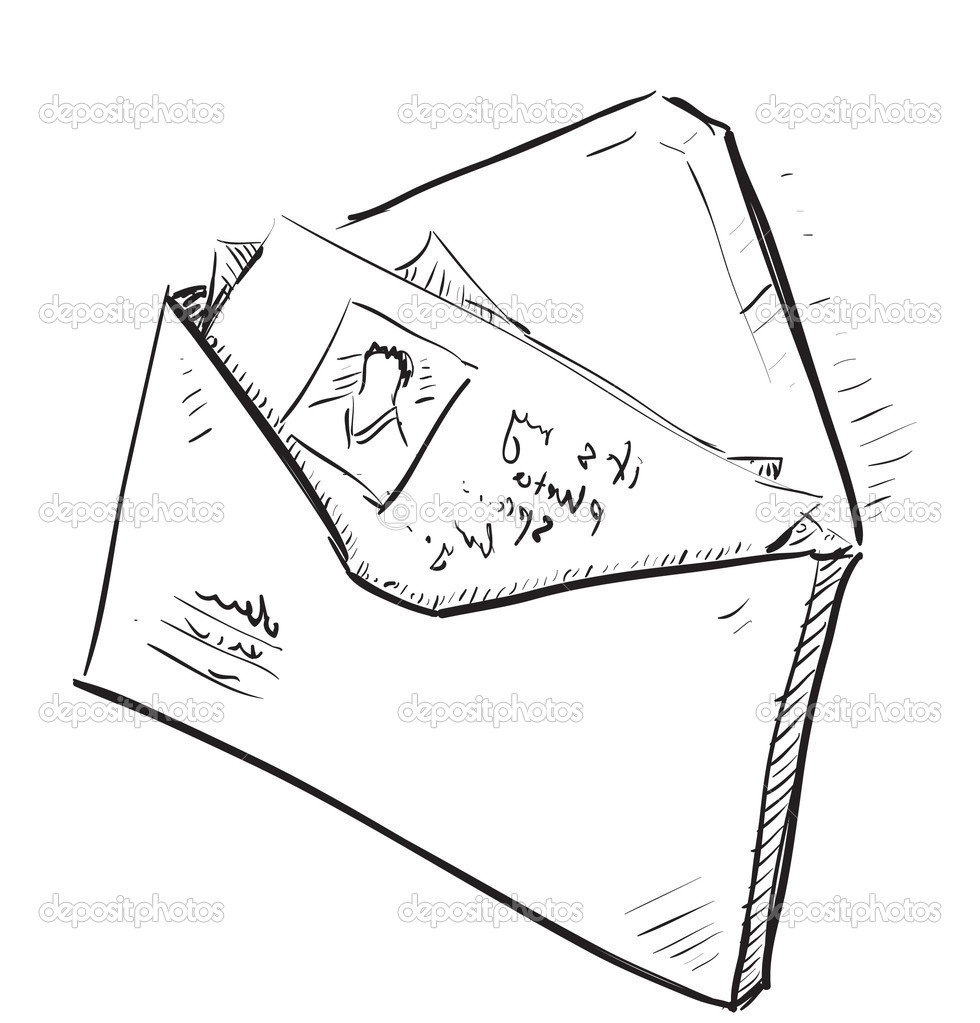 letter and photos in envelope cartoon icon  u2014 stock vector  u00a9 chuhail  8950311