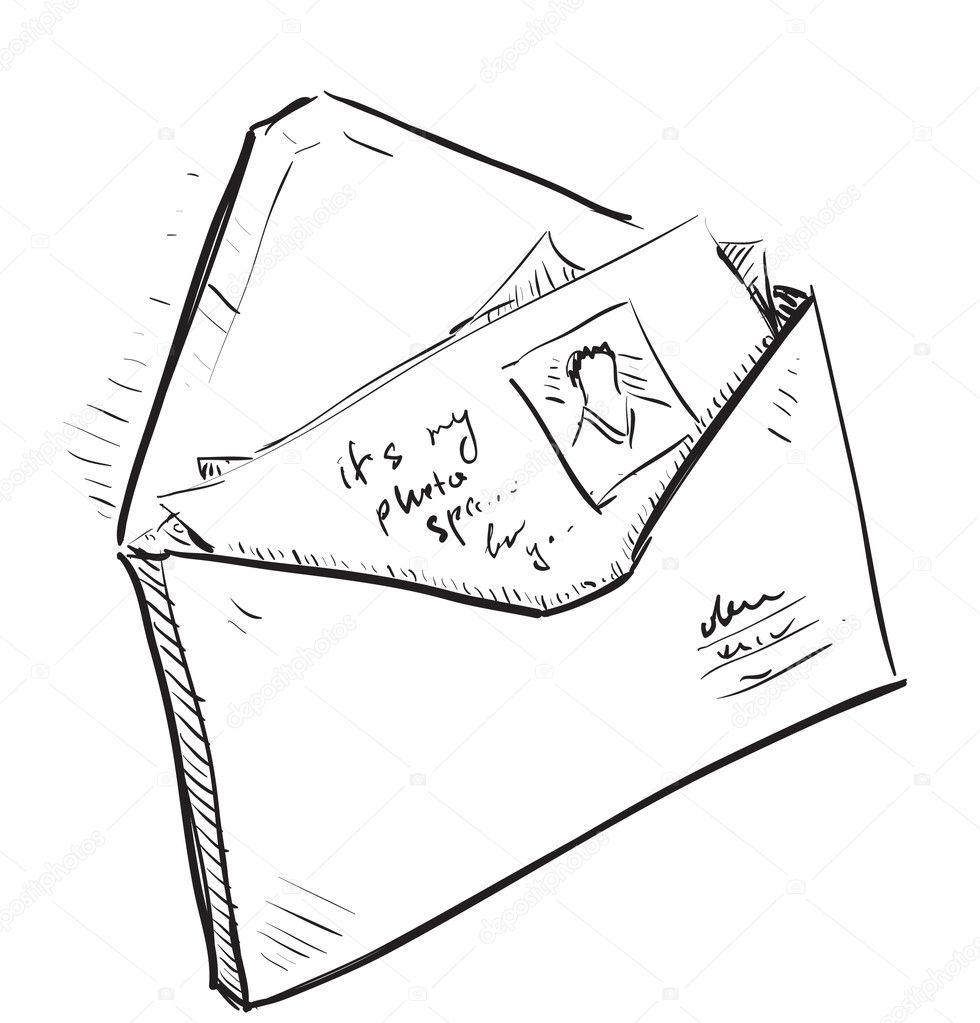 Dessin D Enveloppe photos en icône de dessin animé d'enveloppe et lettre — image