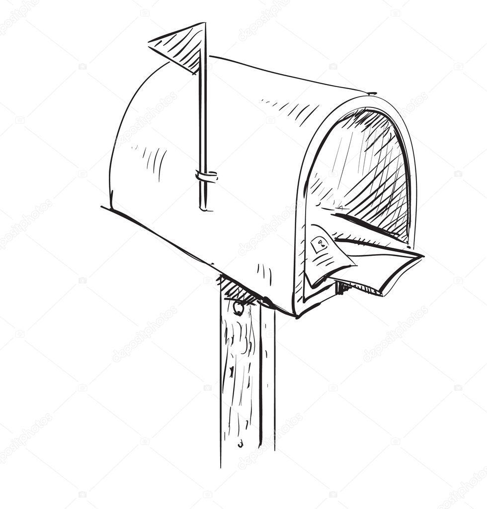 ic ne de dessin anim de bo te aux lettres image vectorielle chuhail 9008064. Black Bedroom Furniture Sets. Home Design Ideas