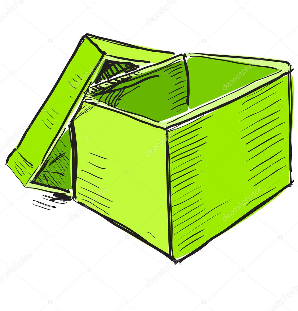 open box clipart. bright hand drawing cartoon sketch illustration in childish doodle style u2014 vector by chuhail open box clipart