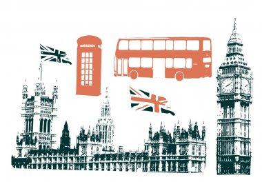 Silhouettes of london sigtseeings