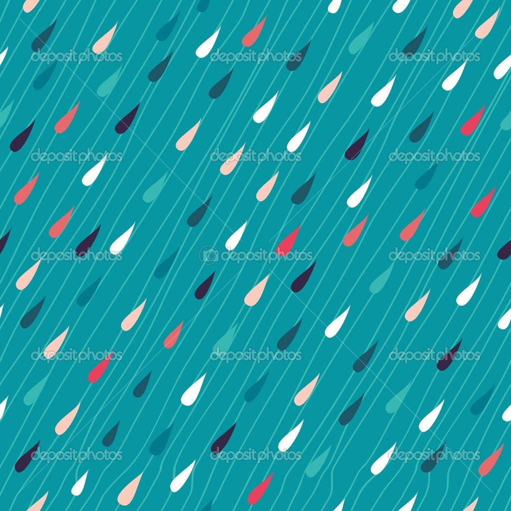 Colorful rain seamless background