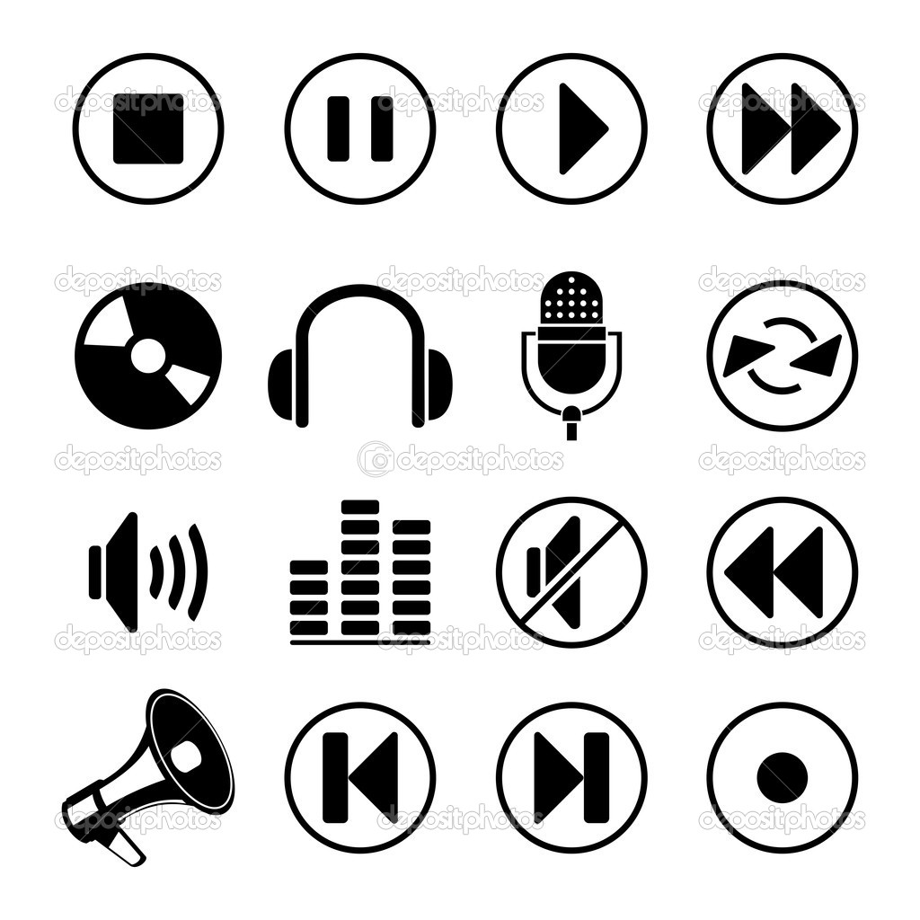 Audio music icons — Stock Vector © AnastasiiaKu #9822617
