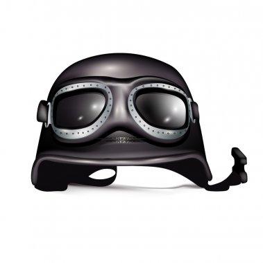Retro helmet with goggles