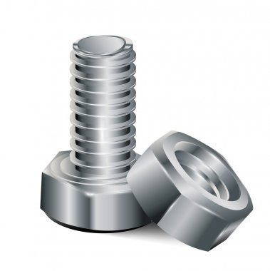 Screw and metal nut