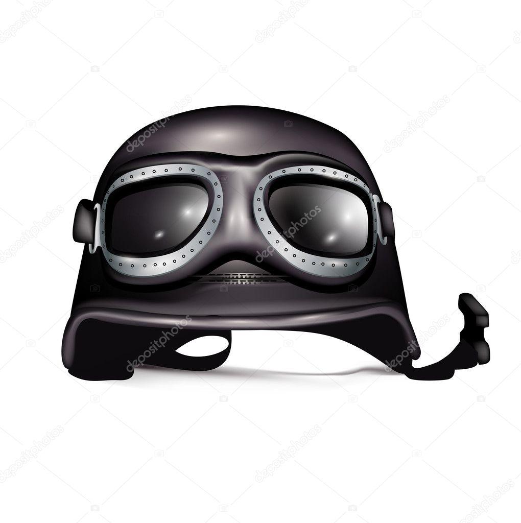 retro helm mit brille stockvektor corneliap 7980684. Black Bedroom Furniture Sets. Home Design Ideas