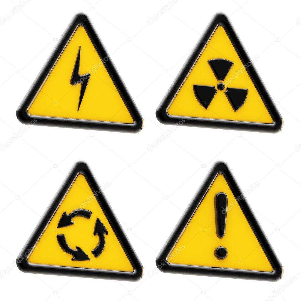 желтый треугольник с восклицательным знаком в кругу