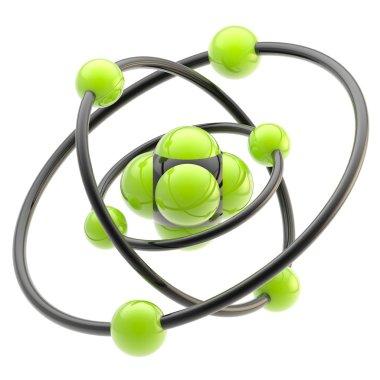 Nano technology emblem as atomic structure