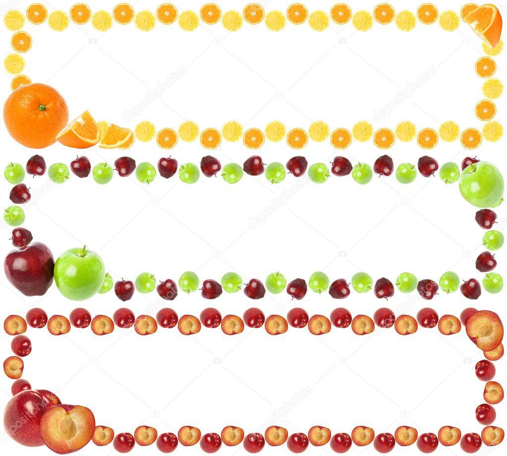 Cornici colorate di frutta foto stock veryolive 9104338 for Cornici per foto colorate