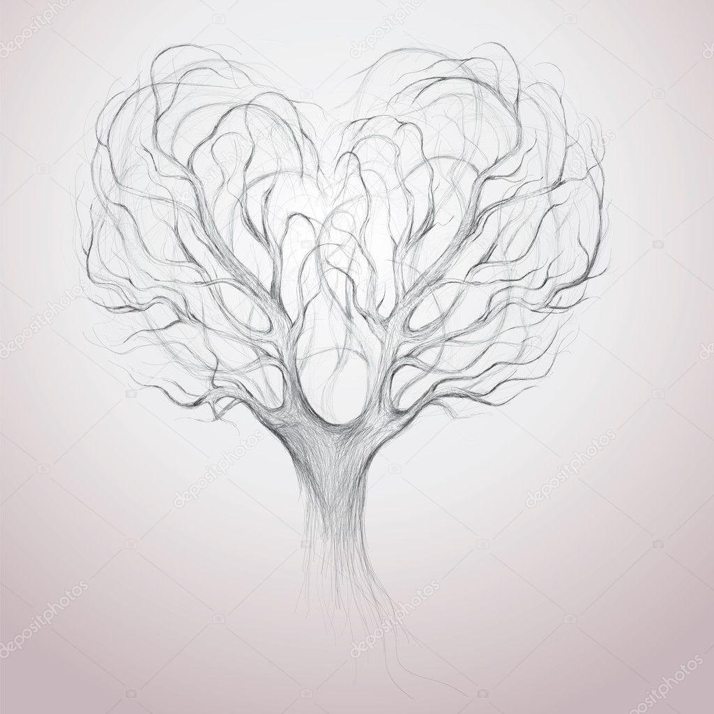 Tree crown like heart