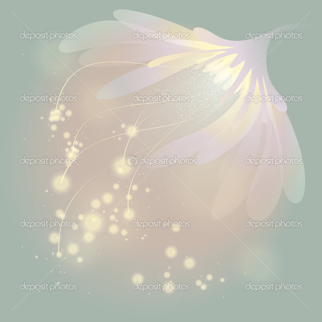 Soft fairy flower at spring sunrise