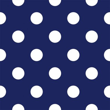 Vector seamless pattern with huge polka dots on retro navy blue background