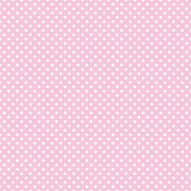 Vector seamless pattern with small white polka dots on a pastel pink background. For cards, albums, backgrounds, arts, crafts, fabrics, decorating or scrapbooks. stock vector