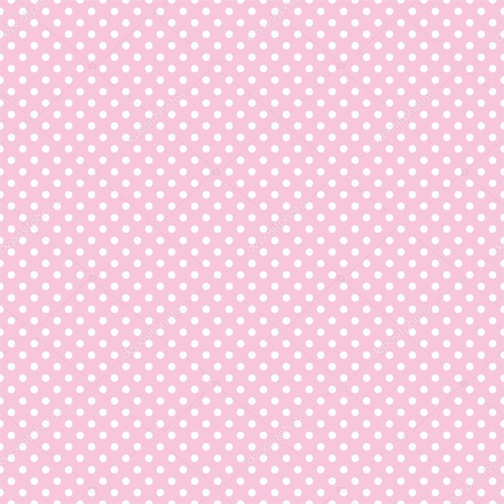 lunares en el patrón de vector retro inconsútil de fondo rosa bebé ...