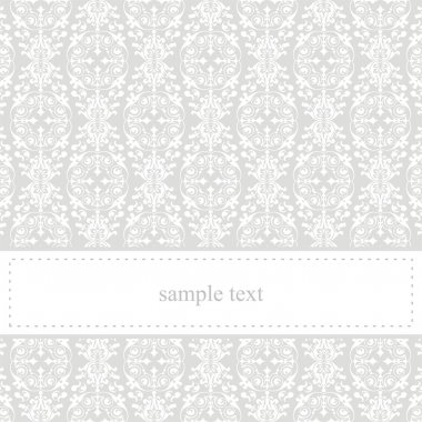 Classic elegant grey vector card or invitation background with lace