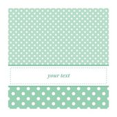 Sweet mint green polka dots card invitation - birthday, baby shower