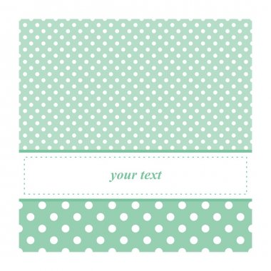 Sweet mint green polka dots card invitation - birthday, baby shower