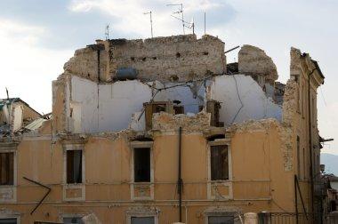 The devastation of the earthquake
