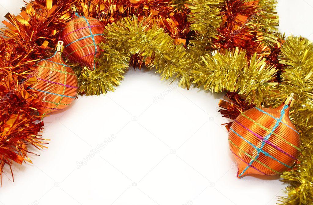 adornos de Navidad de color amarillo anaranjado — Fotos de Stock ...
