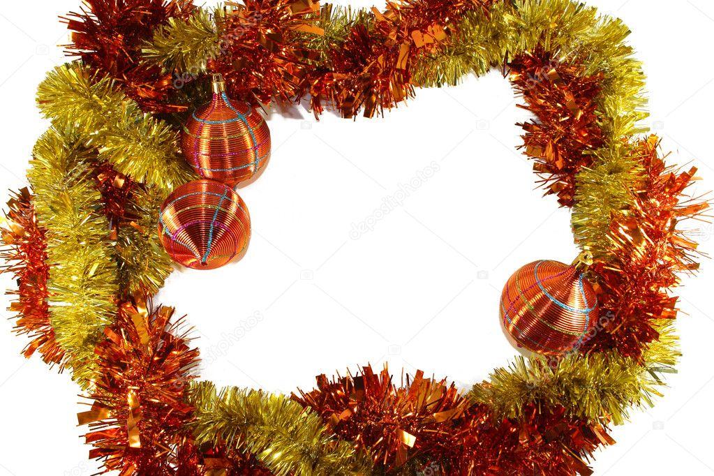 adornos de Navidad de color amarillo anaranjado — Foto de stock ...