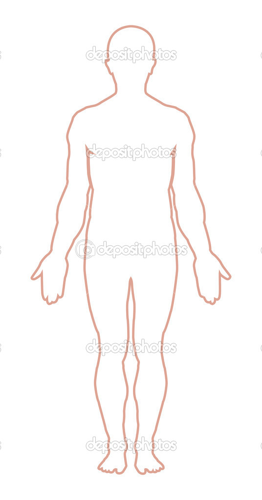 Man body outline