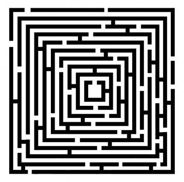 Vector black maze