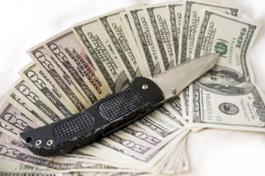 Dirty Cash and Knife
