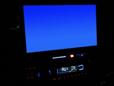 In-Dash LCD Screen Close-Up