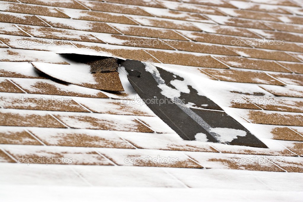 Winter Damaged Roof Shingles