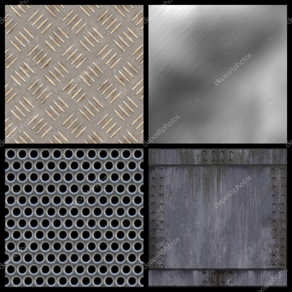 Eine Sammlung Von Modernen Metall Texturen   Fliese Alle Oben Rechts  Nahtlos Als Muster. Größere Versionen Der Einzelnen Stehen Auch In Meinem  Portfolio ...