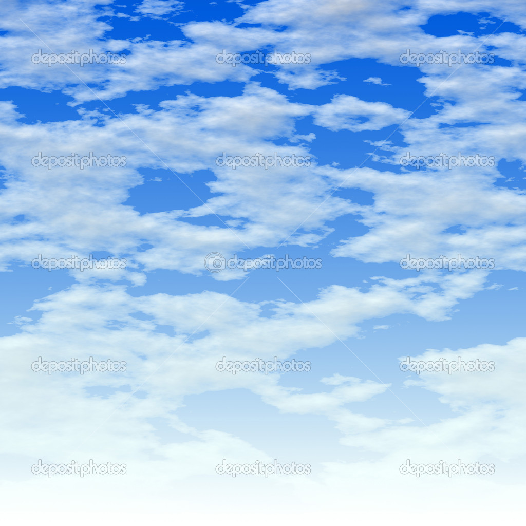 Clouds over blue