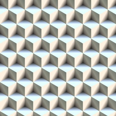 Seamless 3D Boxes Pattern