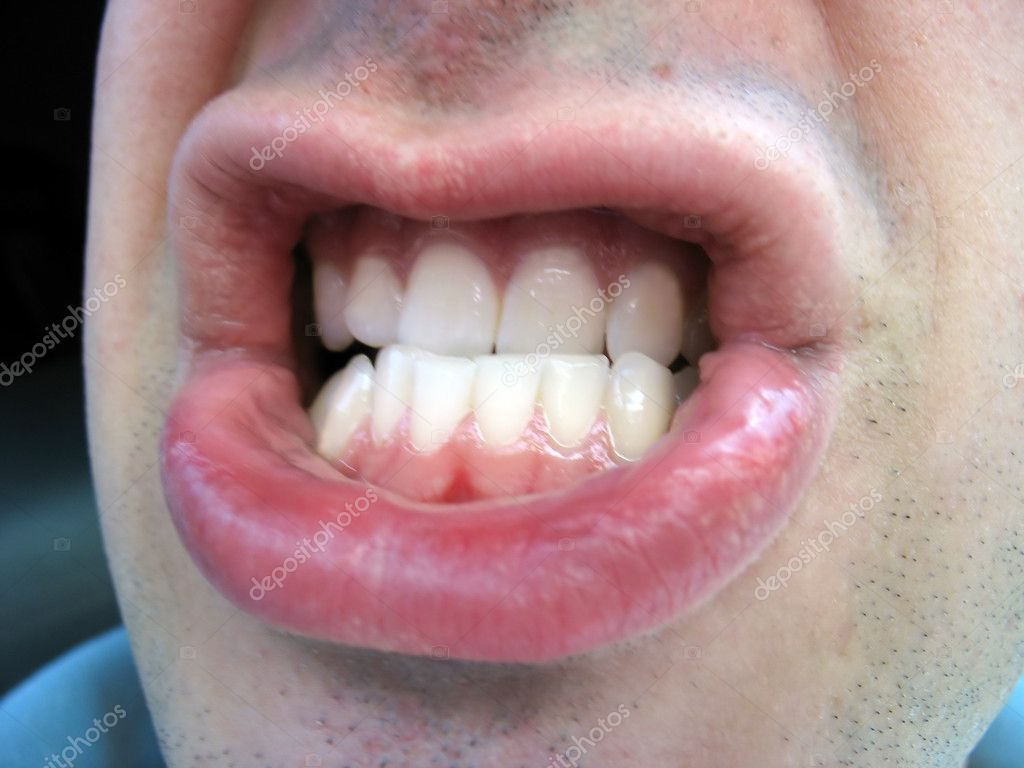 Angry mouth — Stock Photo © ArenaCreative #8946402