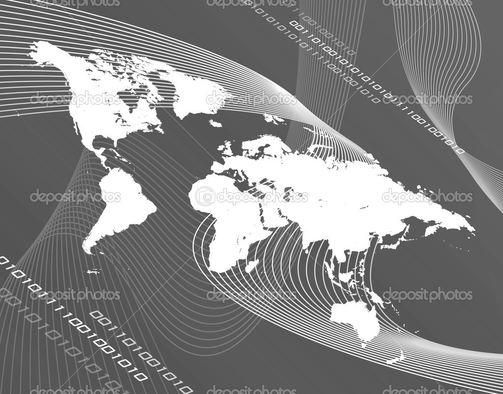Grayscale world map stock photo arenacreative 8947176 a black and white world map montage works great for business global communications travel and more photo by arenacreative gumiabroncs Image collections