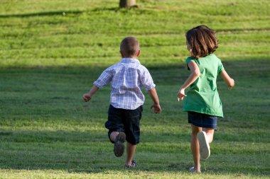 Little Kids Running