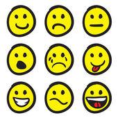 Fotografie Emoticon-Smiley-Gesicht doodles