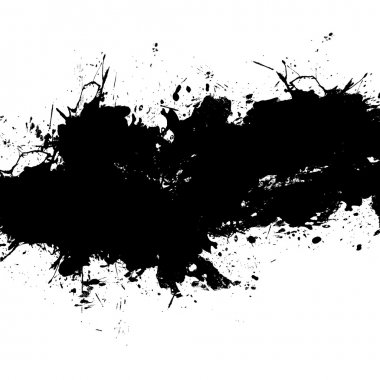 Black Paint Splatter