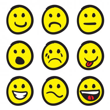 Emoticon Smiley Face Doodles