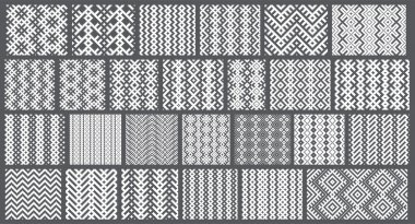 Set of 26 monochrome elegant seamless patterns