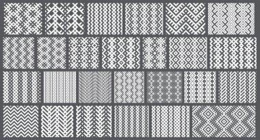 Set of 26 monochrome elegant seamless patterns