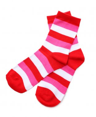Striped socks isolated on white