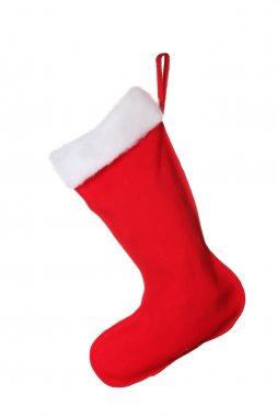 Christmas sock isolated on white