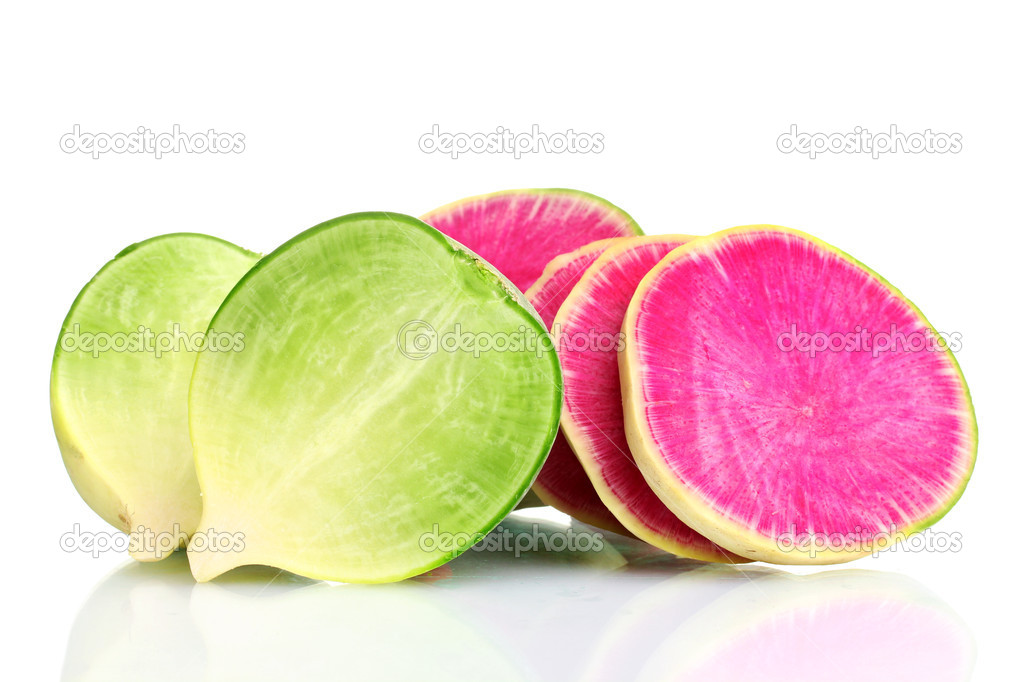 sliced green radish - 1023×682