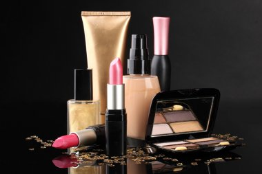 Сosmetics isolated on black
