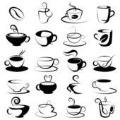 Designelemente für Kaffee und Tee