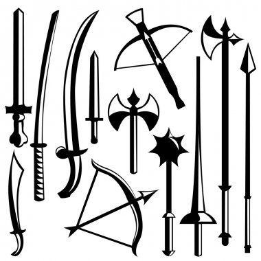 Sword set vector stock vector