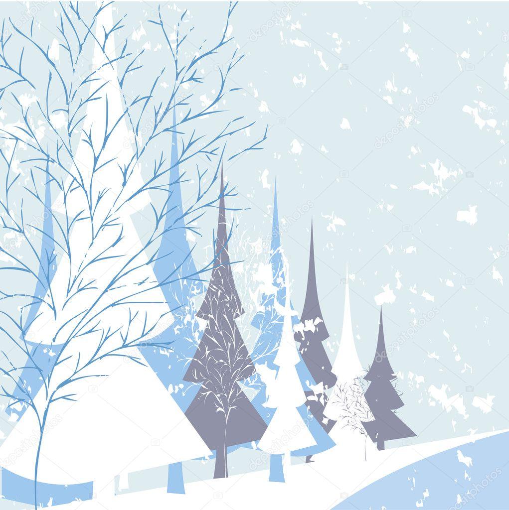 Winter nature background
