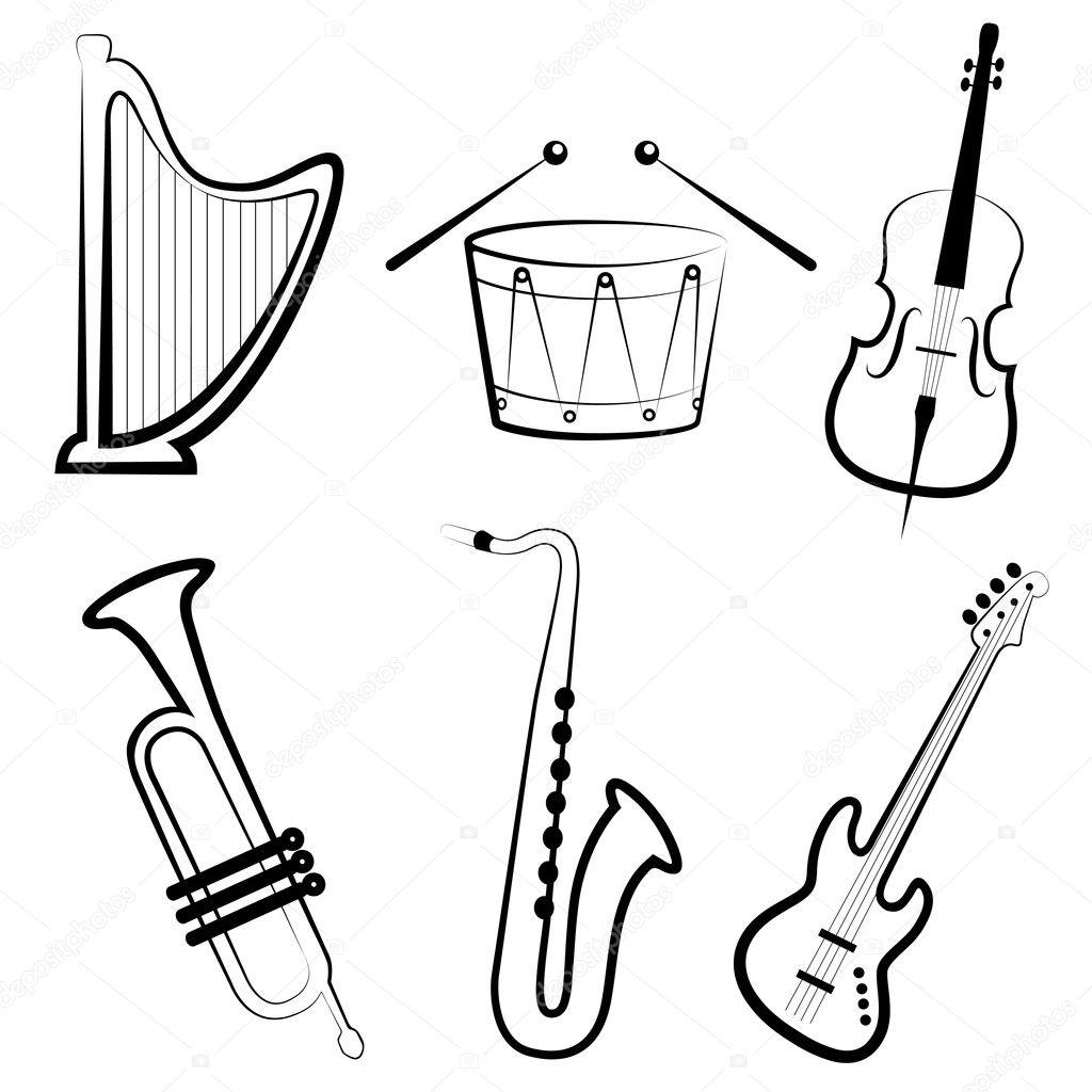 how to draw tabla instrument