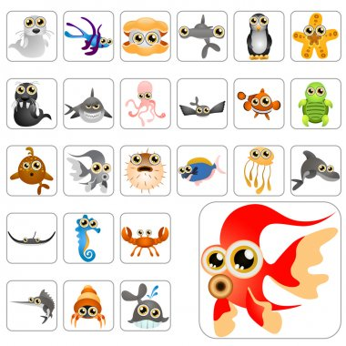 Cartoon animals big set
